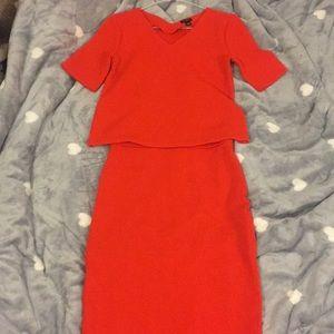 New Ann Taylor orange dress and top set. Top part